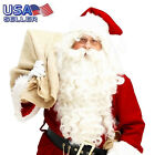 Luxury White Santa Claus Wig &Beard Set Costume Adult Christmas Fancy Dress
