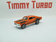 CHEVY NOVA 1968 ORANGE HW FLAMES 1/10 HOT WHEELS MINT