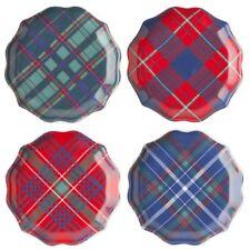 Juliska Trad Tartan Tidbit Plates - Set of 4