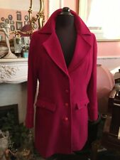Ness Of Edinburgh Wonderful Raspberry Tweed Coat