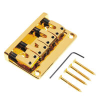 4 String Guitar Bridge For Precision Jazz Bass L shape Adjustable Gold L-Style