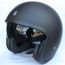 New Scorpion Bandit TSS System Open face Motorcycle Helmet Black Sizes XS - XL