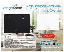 RangeXperts 65 Mile Indoor HD TV Antenna - Best in Class Flat HDTV Antenna