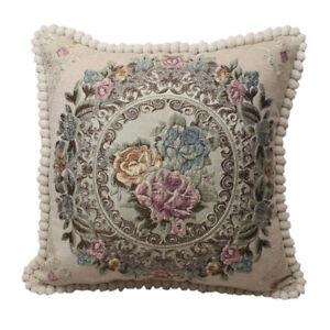 CURCYA Chenille Jacquard Cushion Covers Luxury Sofa Pillow Cover Elegant Decor