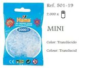 501-19 Hama Beads MINI translúcido, translucid 2000 piezas