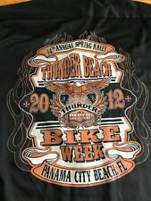 Men's Motorcycle Shirt XXL 2XL Panama City Thunder Beach Bike Week Rally 2012