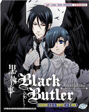 DVD Black Butler Kuroshitsuji Complete Series (Season 1-3 +Movie +9 OVA) English