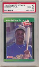 KEN GRIFFEY JR 1989 DONRUSS ROOKIES 3 RC ROOKIE SEATTLE MARINERS PSA 10 GEM MINT