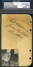 WILLIAM BOYD HOPALONG CASSIDY SIGNED ALBUM PAGE PSA/DNA AUTOGRAPH