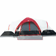 Tahoe Gear Manitoba 14-Person Family Outdoor Camping Tent w/ Rainfly, Red/Black