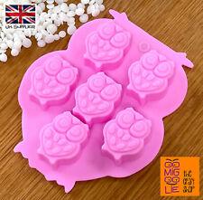 Owl Shape Silicone Wax Melt Mould Cake Mold Chocolate Ice Cube Sweets Decoration