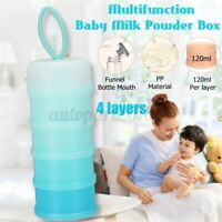 4 Layer Baby Milk Powder Feeding Case Formula Dispenser Food Container Box PP A