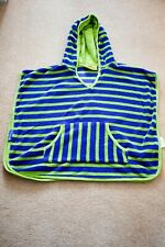 Mountain Wearhouse Kids Hooded Towel Poncho Green and Blue S/M