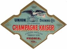 1900s Peoria Illinois Champagne Kaiser Beer Stephens Collection Tavern Trove