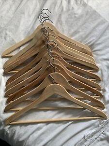 10 x Wooden Clothes Hangers