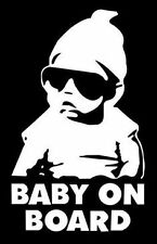 BABY ON BOARD HANGOVER CARLOS VINYL STICKER IN REFLECTIVE WHITE COLOR 28 sold