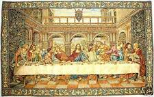 "NEW 43"" DA VINCI LAST SUPPER GENUINE BELGIAN WOVEN TAPESTRY WALL HANGING"