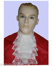 Mens lace jabot cravat.. 17th-18th C  Victorian Edwardian Regency Costume white