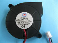 1 pcs Brushless DC Cooling Blower Fan 5015B 24V 50x50x15mm 2 Wire Ball Bearing