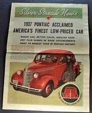 1937 Pontiac Silver Streak News Catalog Brochure Six 6 Eight 8 Nice Original 37