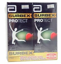 2 X 50'S Energy Booster Abbott Surbex Protect  Vitamin B with Co-Q10