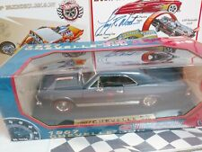 Motor Max 1967 Chevy Chevelle Ss 396 Blue Paint Wheels with Redline tires