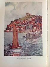 The Red Roofs Of Whitby, Vintage Colour Yorkshire Print 1932