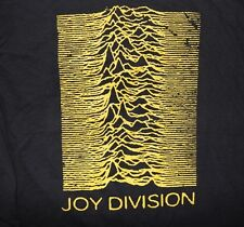 Joy Division band ***2XL*** Unknown Pleasures printed t-shirt Yellow on Black