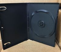 90 New DVD/Media Cases, Black, 14mm Single Disc, w/Art Clips, Wrap Around Cover