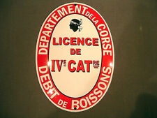 PLAQUE EMAILLEE BOMBEE LICENCE IV CORSE DEPARTEMENT debit boisson bar
