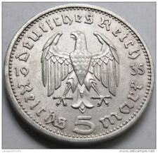 5 MARK 1935A DEUTSCHLAND , HINDENBURG , argent .900 , 29 mm , 13.8 g