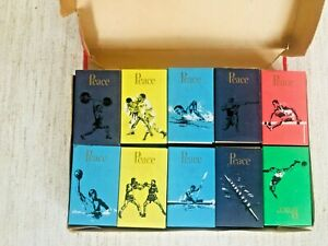 TOKYO OLYMPICS 1964 - 20x PEACE cigarette packs - PRESENTATION BOX 20 SPORTS
