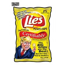 GPK Trumpocracy Wacky Packages Alternative Facts #2 Lies Potato Chips Trump
