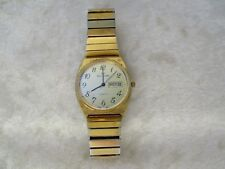 Waltham Men's Quartz Gold Tone XD008 Watch with Date(Spanish) - For Repair