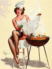 Metal sign vintage Retro style Gil Elvgren sexy pin up girl wall door plaque