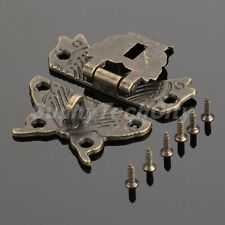 Hardware Butterfly Shaped Rustic Wodden Jewelry Box Clasp Hasp Latch Catch Retro
