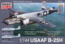 Minicraft Models 14713 B-25H USAAF 1:144 NIB Free Shipping