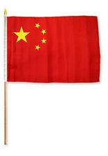 "12x18 12""x18""  China Stick Flag wood staff"