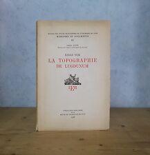 RHONE LYON ESSAI SUR LA TOPOGRAPHIE DE LUGDUNUM (A. AUDIN 1956, PL.).