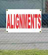 2x3 ALIGNMENTS Red & White Banner Sign NEW