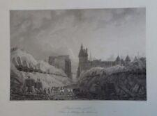 "19th Century Steel Engraving ""Paris around 1788"", Galerie Versailles"