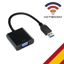 ACTECOM® CABLE USB 3.0 a VGA ADAPTADOR CONVERTIDOR TARJETA GRAFICA