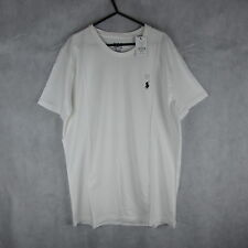 New! Stunning! Mens Ralph Lauren Polo White Tshirt Size L - Casual Fashion Style
