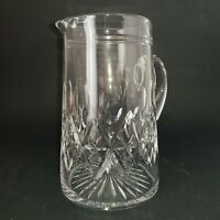 "Stuart Crystal Cut Glass Water Jug Juice Pitcher Vase Lead Crystal 7.1/2""  :S"