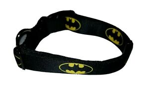 "Buckle-Down Plastic Clip Collar Batman Shield Black/Yellow 1/2"" Wide 6-9"" Neck S"