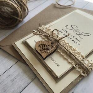 Vintage Wedding Invitations. Wedding Stationery, Barn Wedding