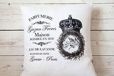 "Parfumerie Maison - 16"" cushion cover French shabby vintage chic - UK handmade"