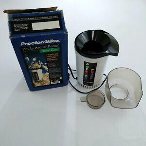 VTG Proctor Silex H7340 5-QT Hot Air Popcorn Pumper Popper Tested Works With Box
