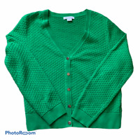Women's Liz Claiborne Long Sleeve Sweater Green V-Neck Size XL FREE Shipping