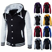Men's Winter Warm Hoodies Slim Hooded Sweatshirt Sweater Coat Jacket Outwear